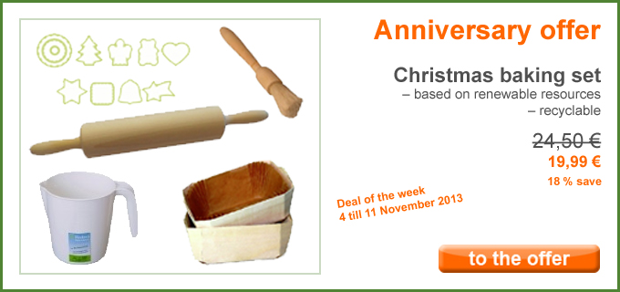 Anniversary offer: Christmas baking set from Biodora